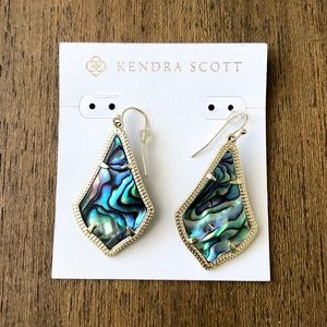 Kendra Scott Alex Gold Abalone Shell Drop Earrings